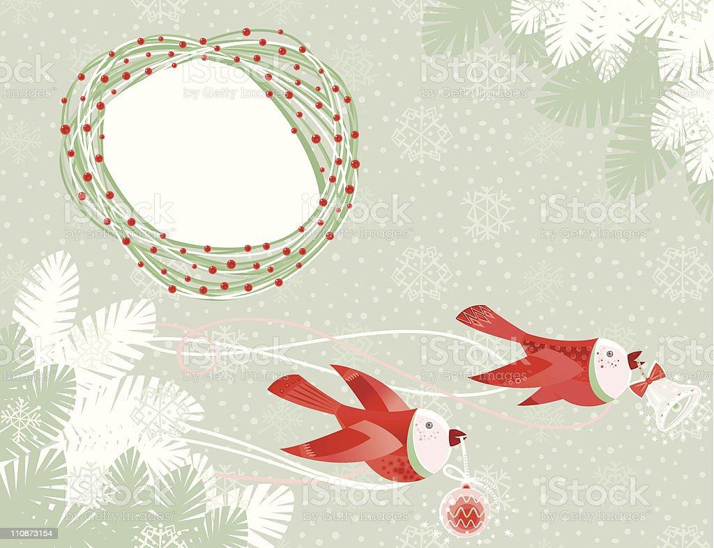 Christmas Birds royalty-free stock vector art