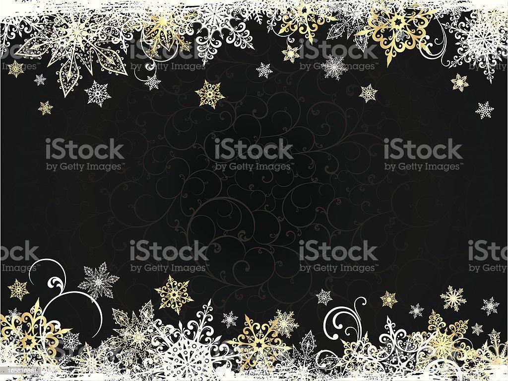 Christmas black backround vector art illustration