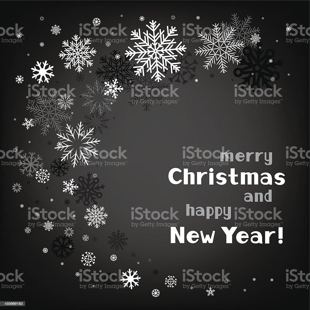 christmas black swirl background royalty-free stock vector art