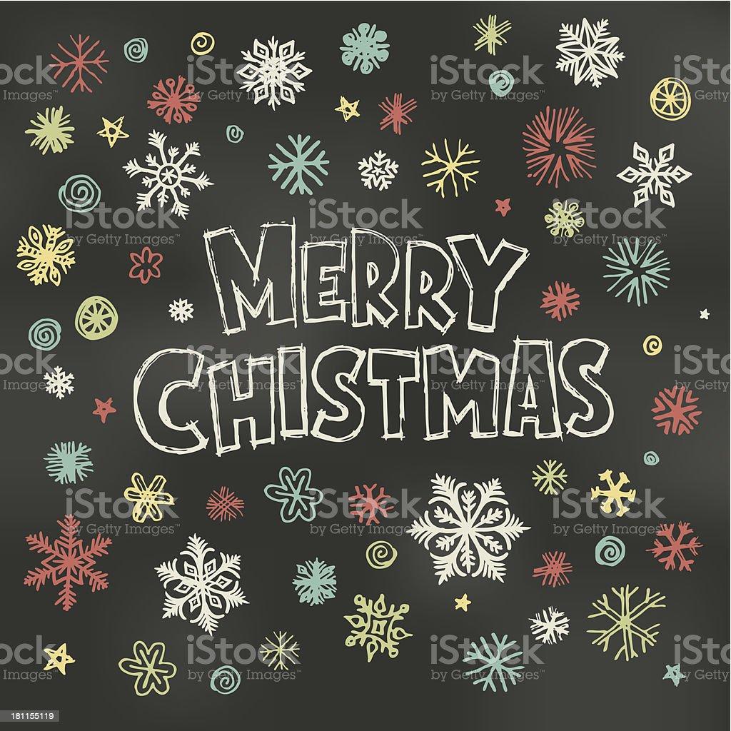 Christmas Blackboard design royalty-free stock vector art