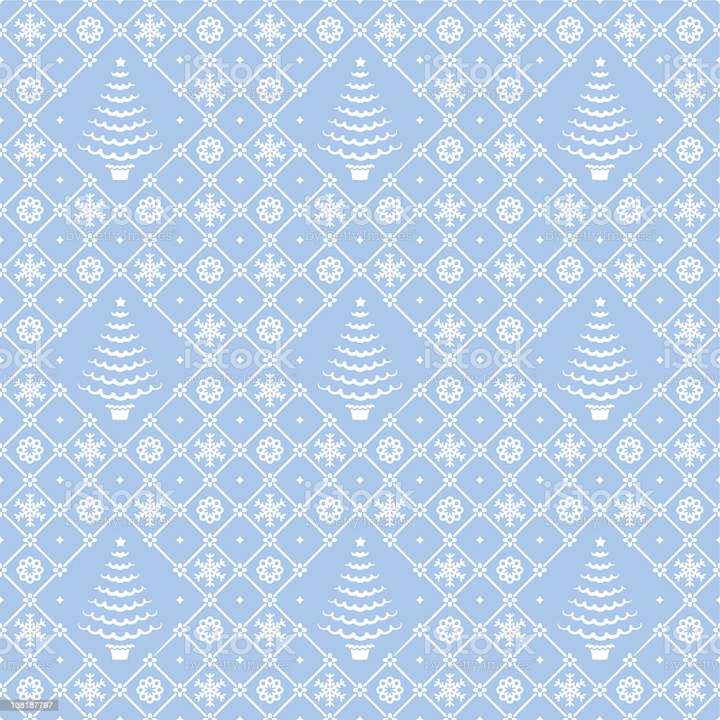 Christmas blue and white seamless pattern royalty-free stock vector art