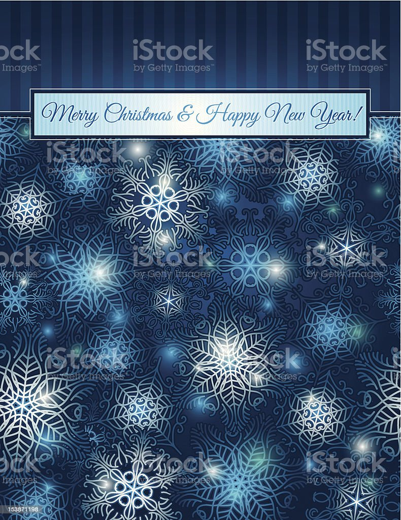 christmas blue background with snowflakes, vector royalty-free stock vector art