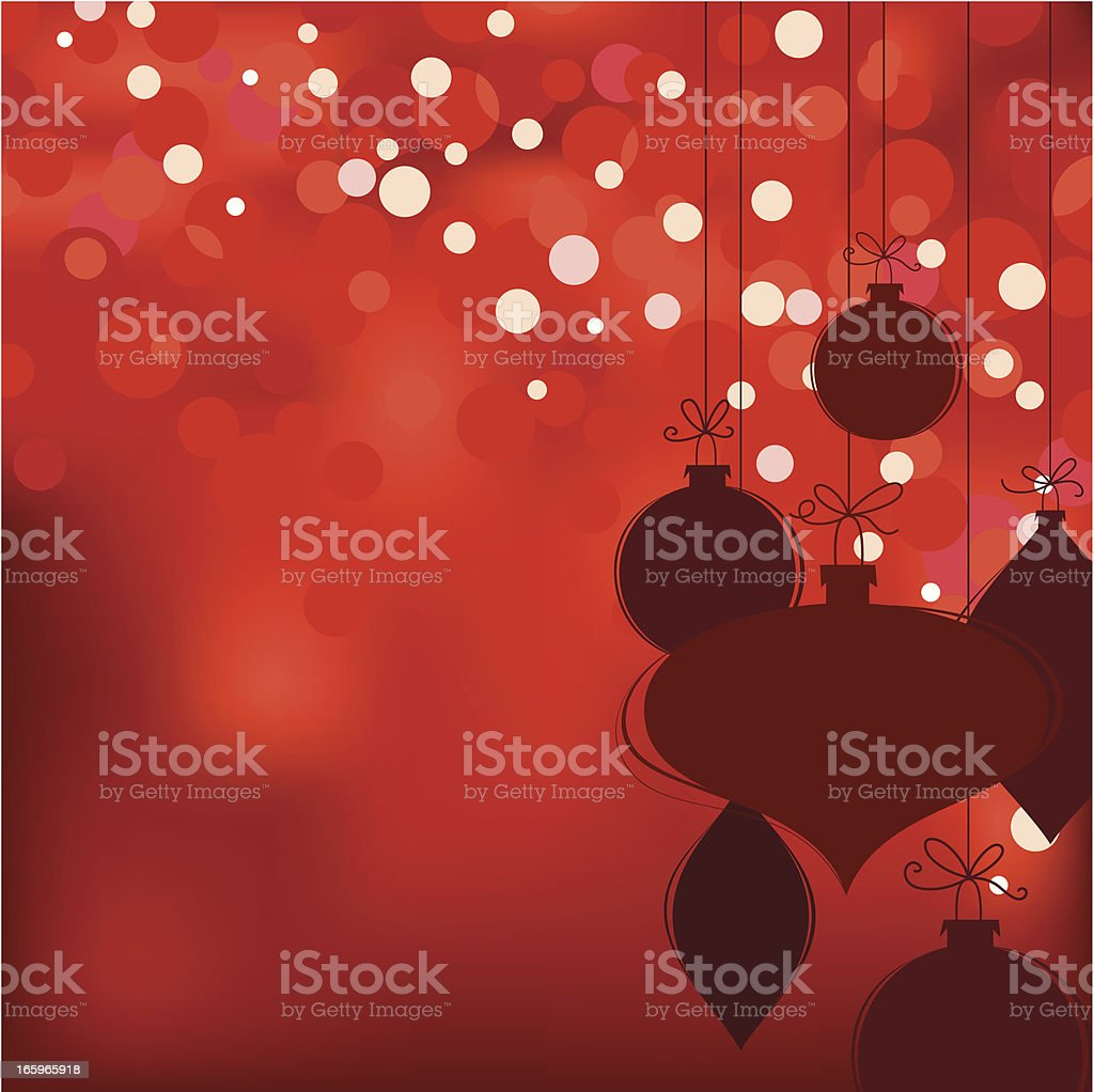 Christmas bokeh background royalty-free stock vector art