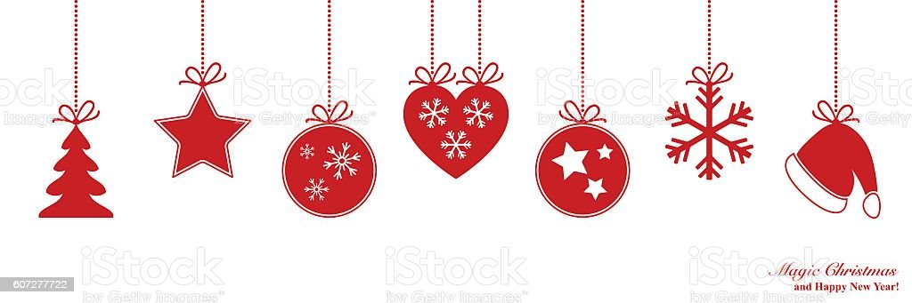 Christmas border vector art illustration