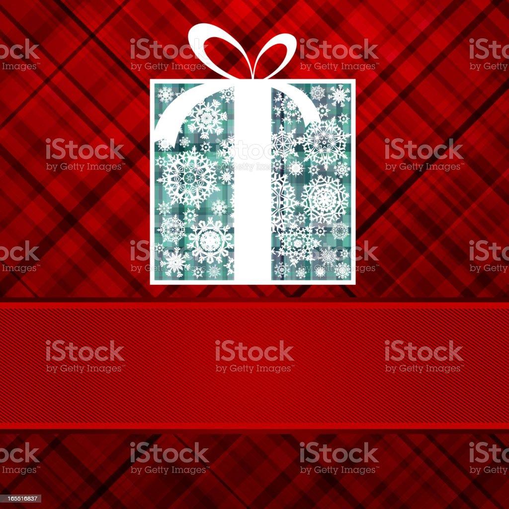 Christmas box card. EPS 8 royalty-free stock vector art