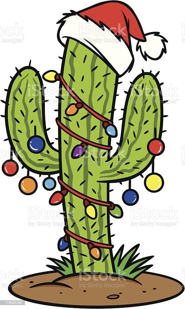 Christmas Cactus royalty-free stock vector art