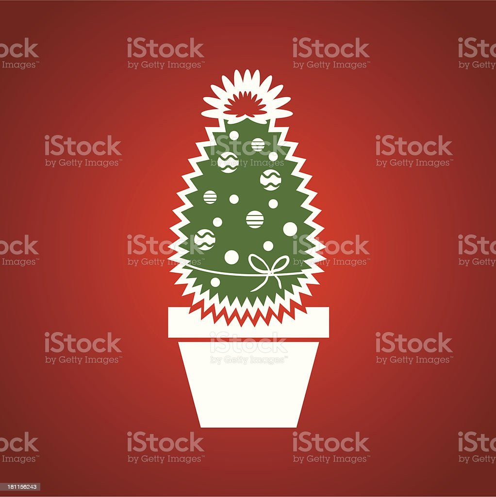 Christmas cactus royalty-free stock vector art