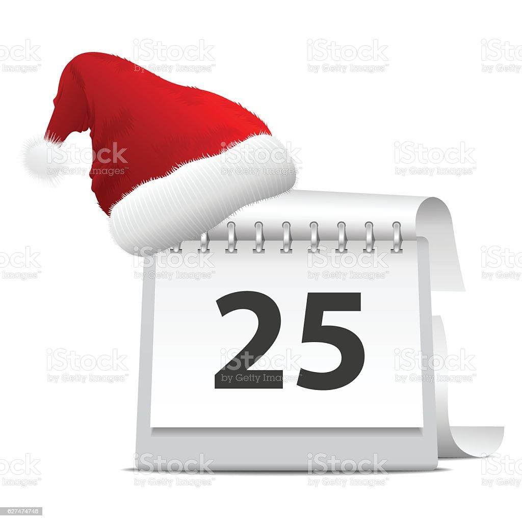 Christmas calendar vector art illustration