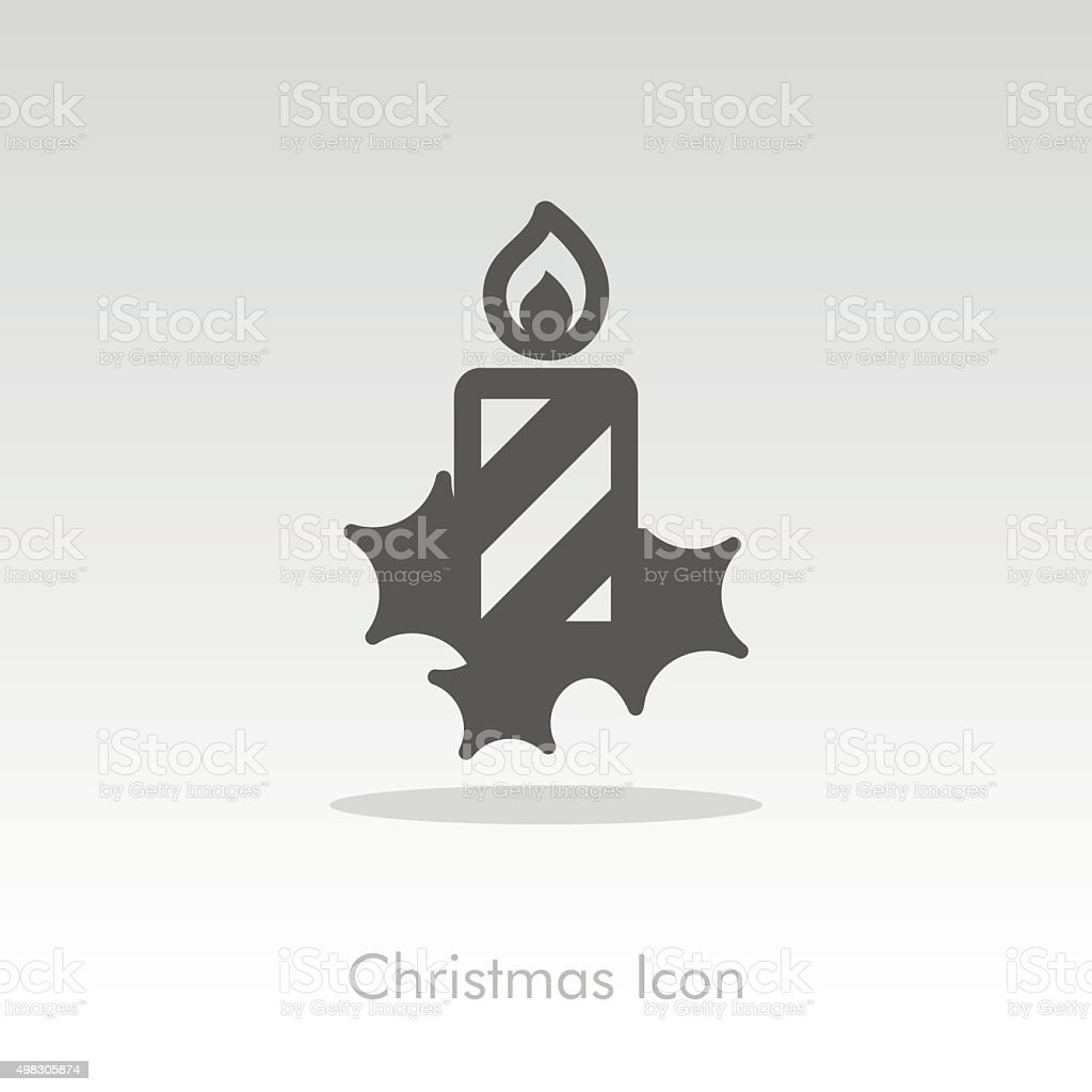Christmas candle icon vector art illustration