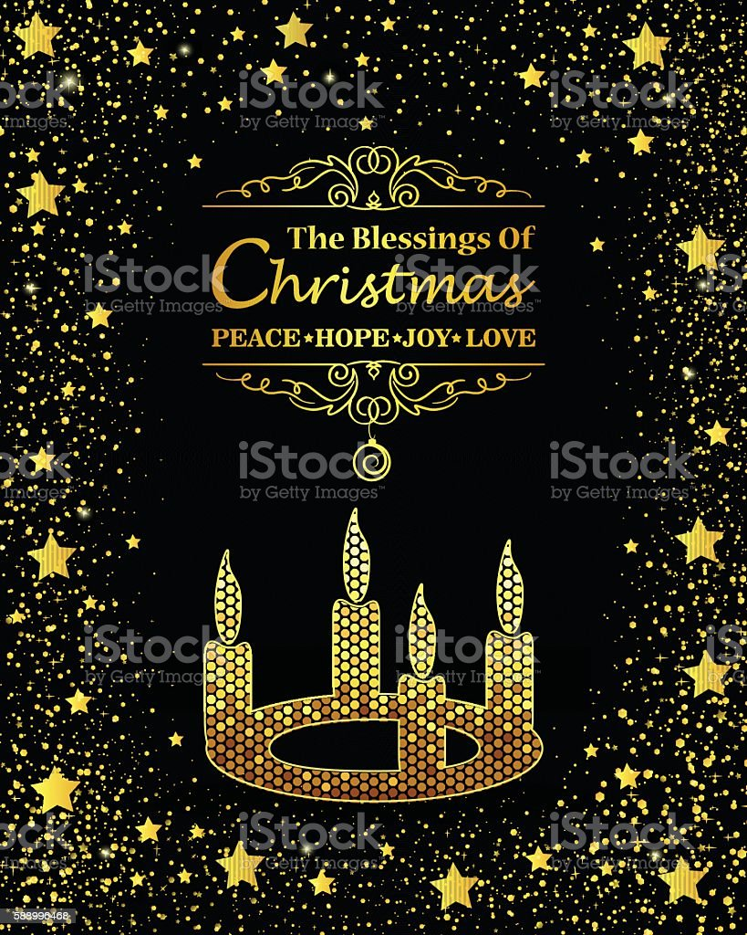 Christmas Candle vector art illustration