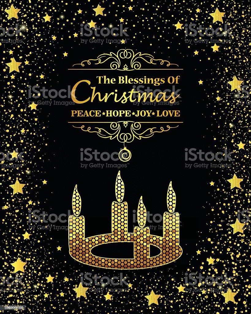 Christmas Candle vector art illustration