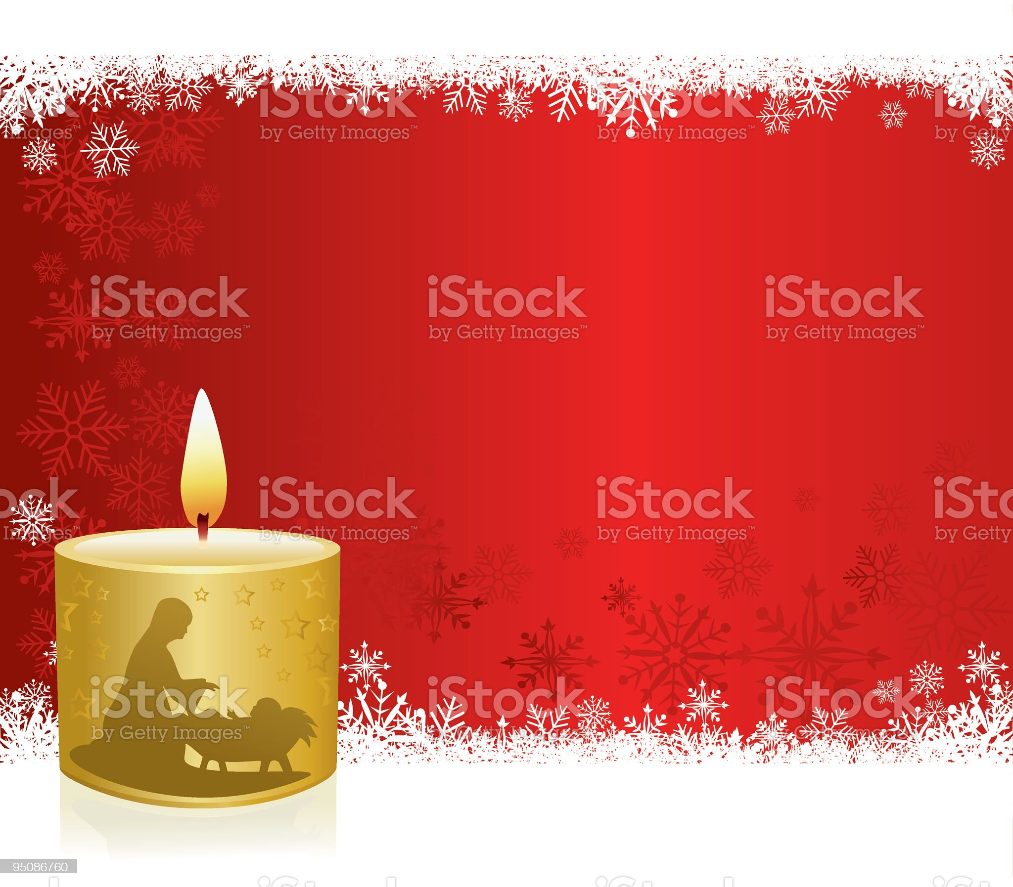 Christmas Candle royalty-free stock vector art