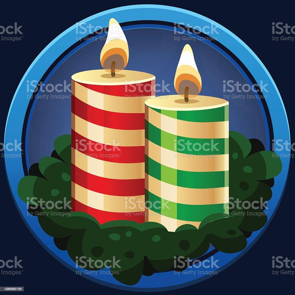 Рождественские свечи значок векторная иллюстрация