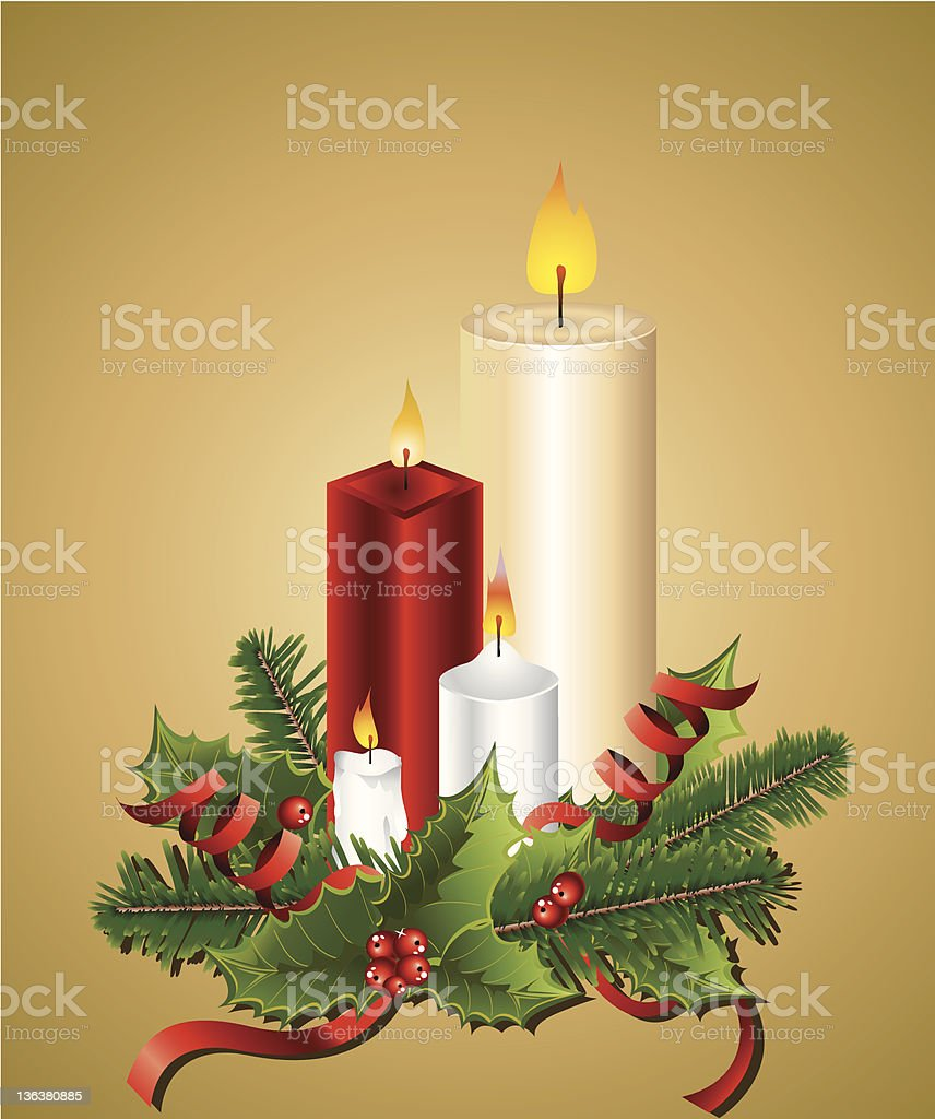 Christmas Candles royalty-free stock vector art