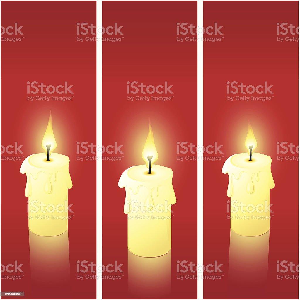Christmas Candles royalty-free stock vector art