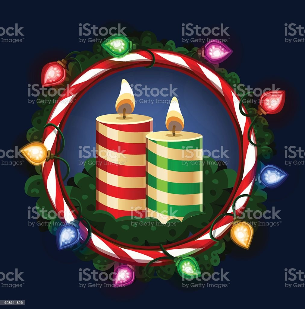Рождественские свечи векторная иллюстрация