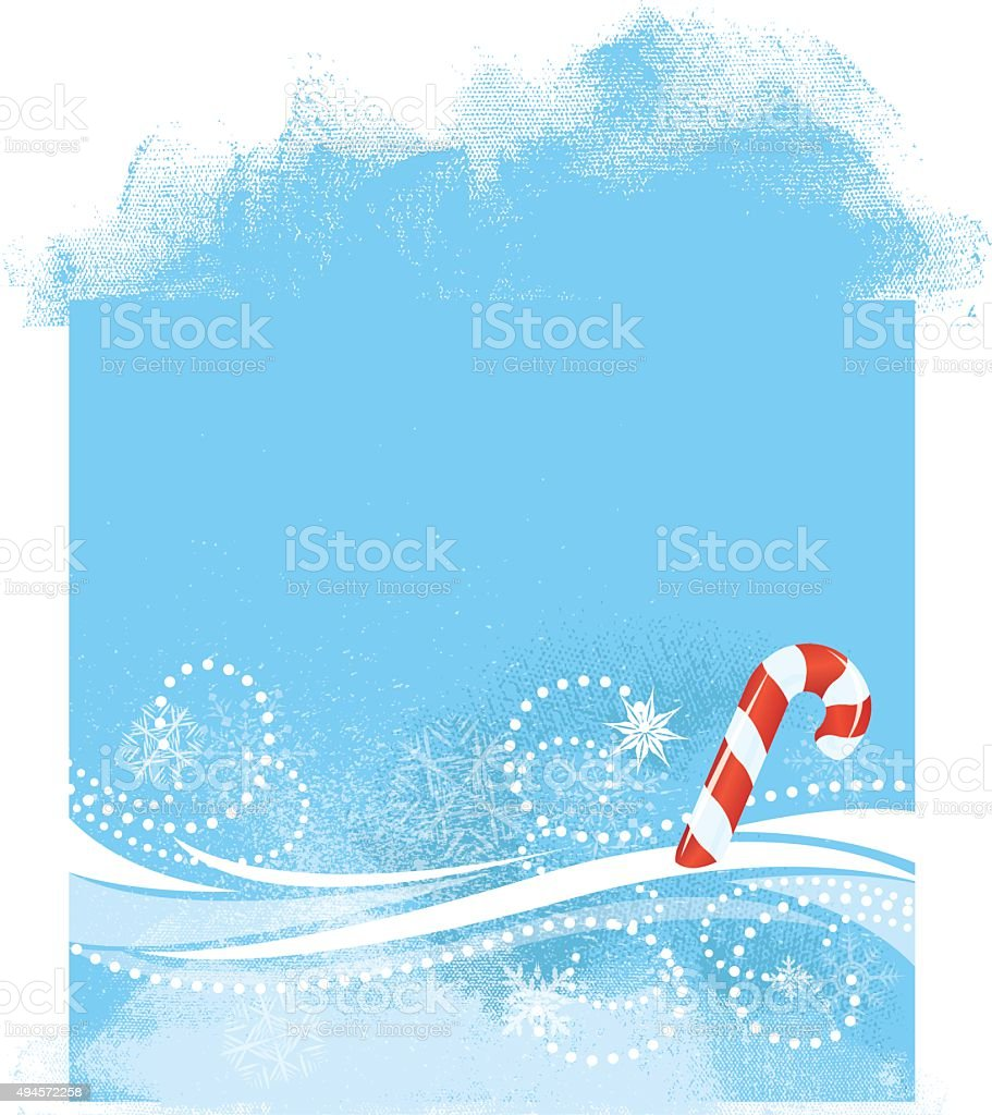 Christmas Candy Cane Background vector art illustration