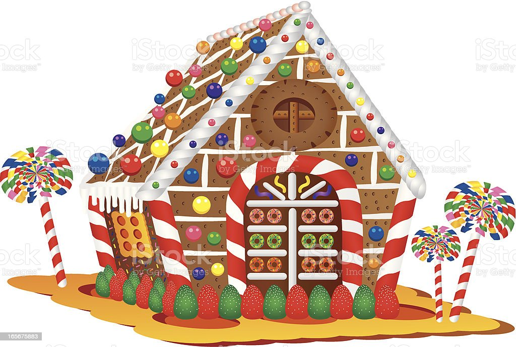 Christmas Candy House royalty-free stock vector art