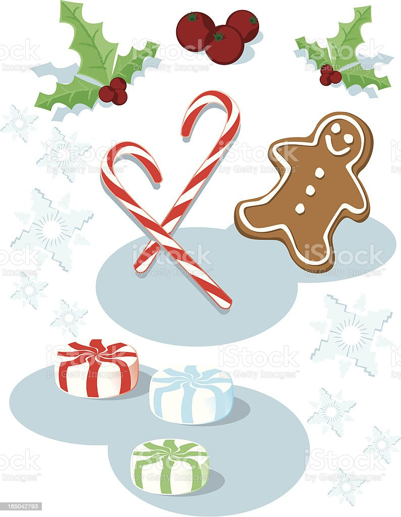 christmas candy royalty-free stock vector art