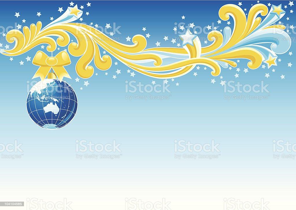 christmas card - Australia royalty-free stock vector art
