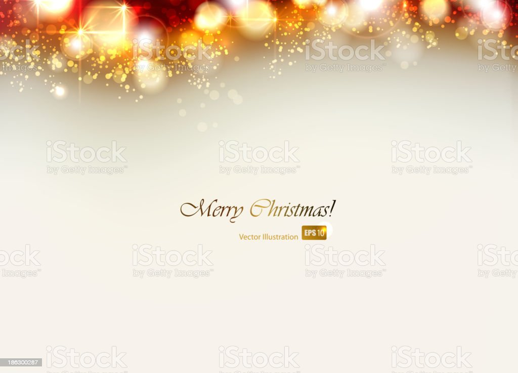 A Christmas card background with a message  vector art illustration