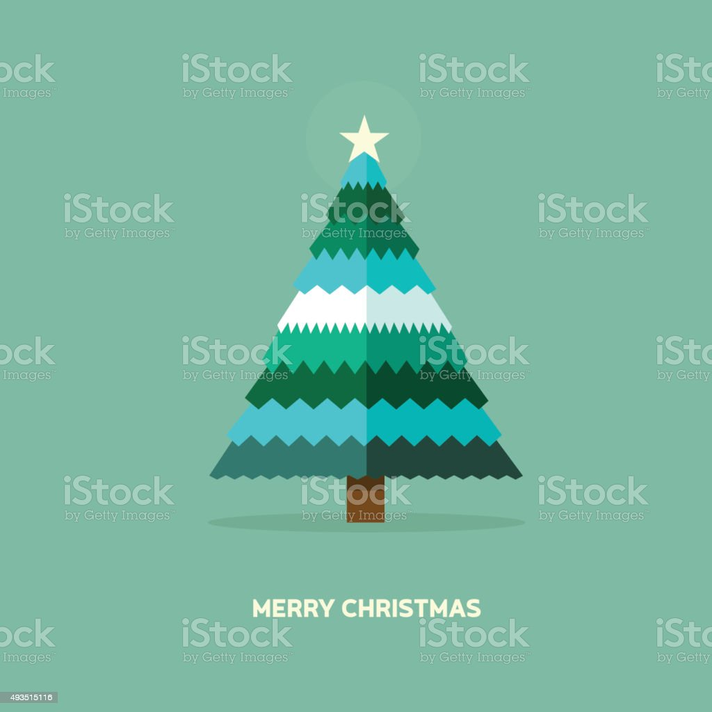 christmas card - flat vector Illustration vector art illustration