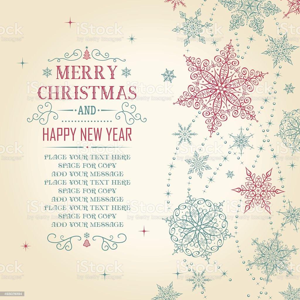 Christmas Card - Illustration vector art illustration