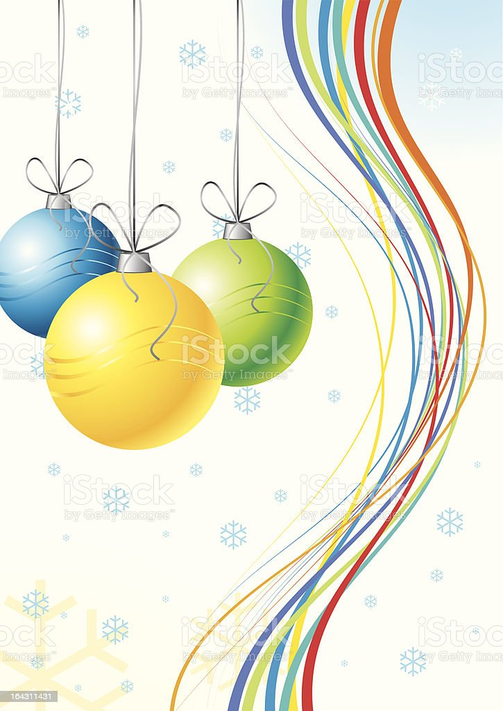 Christmas Card or Poster Template royalty-free stock vector art