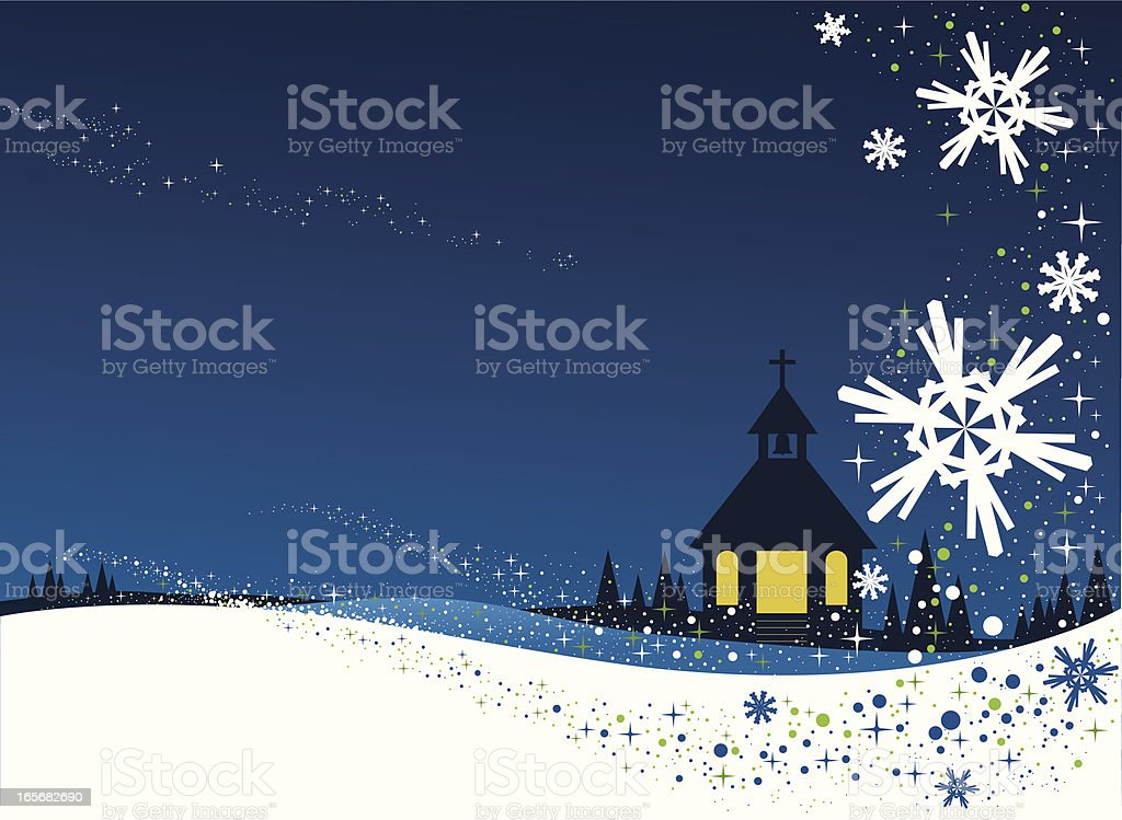 Christmas Card snow flakes royalty-free stock vector art