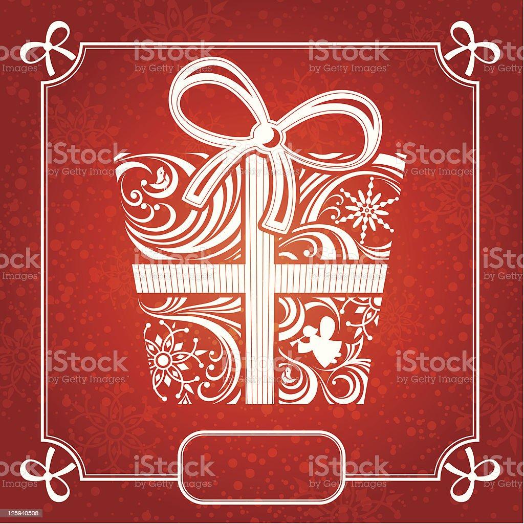 Christmas card vector illustration royalty-free stock vector art