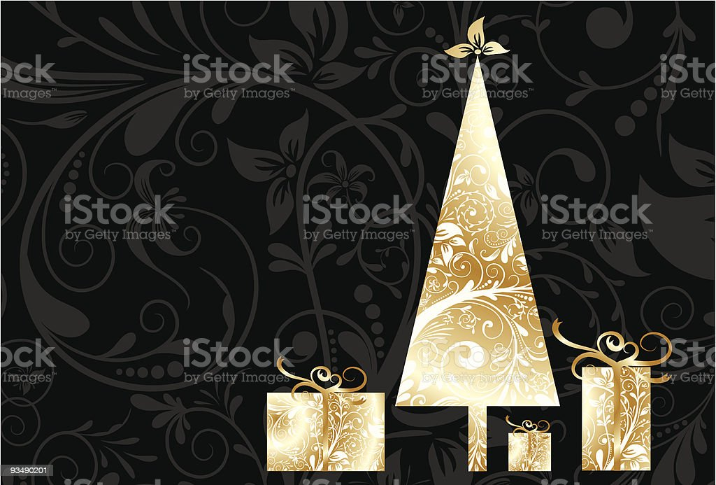 Christmas card with an ornament royalty-free stock vector art