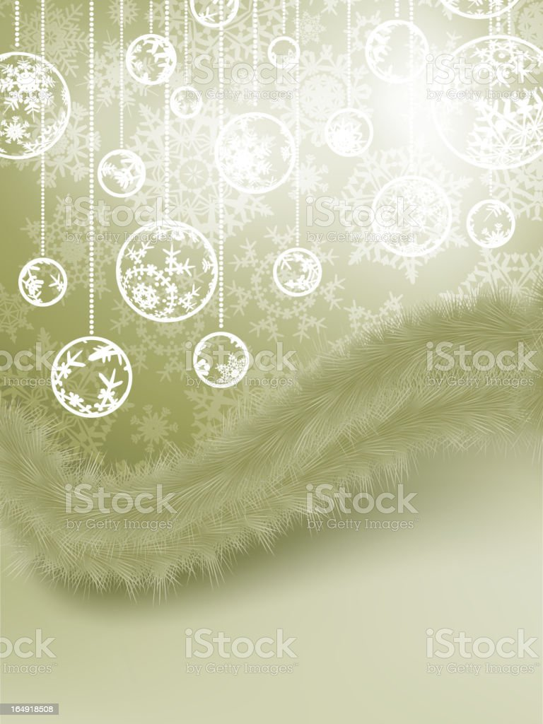 Christmas Card with baubles. EPS 8 royalty-free stock vector art