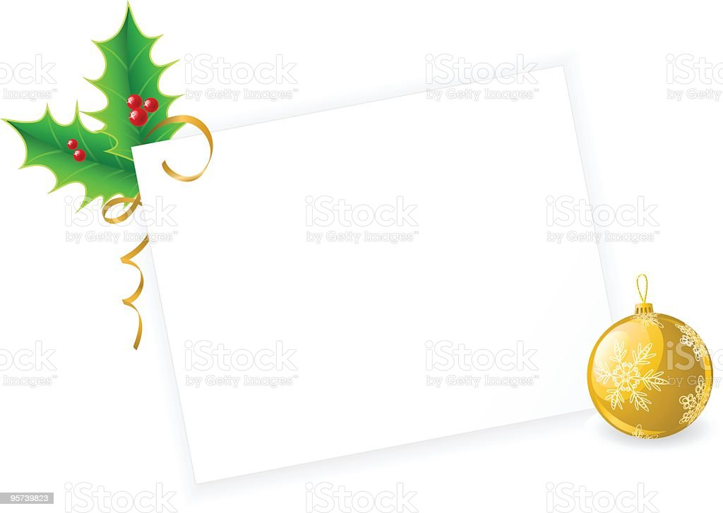 Christmas card with copy space royalty-free stock vector art