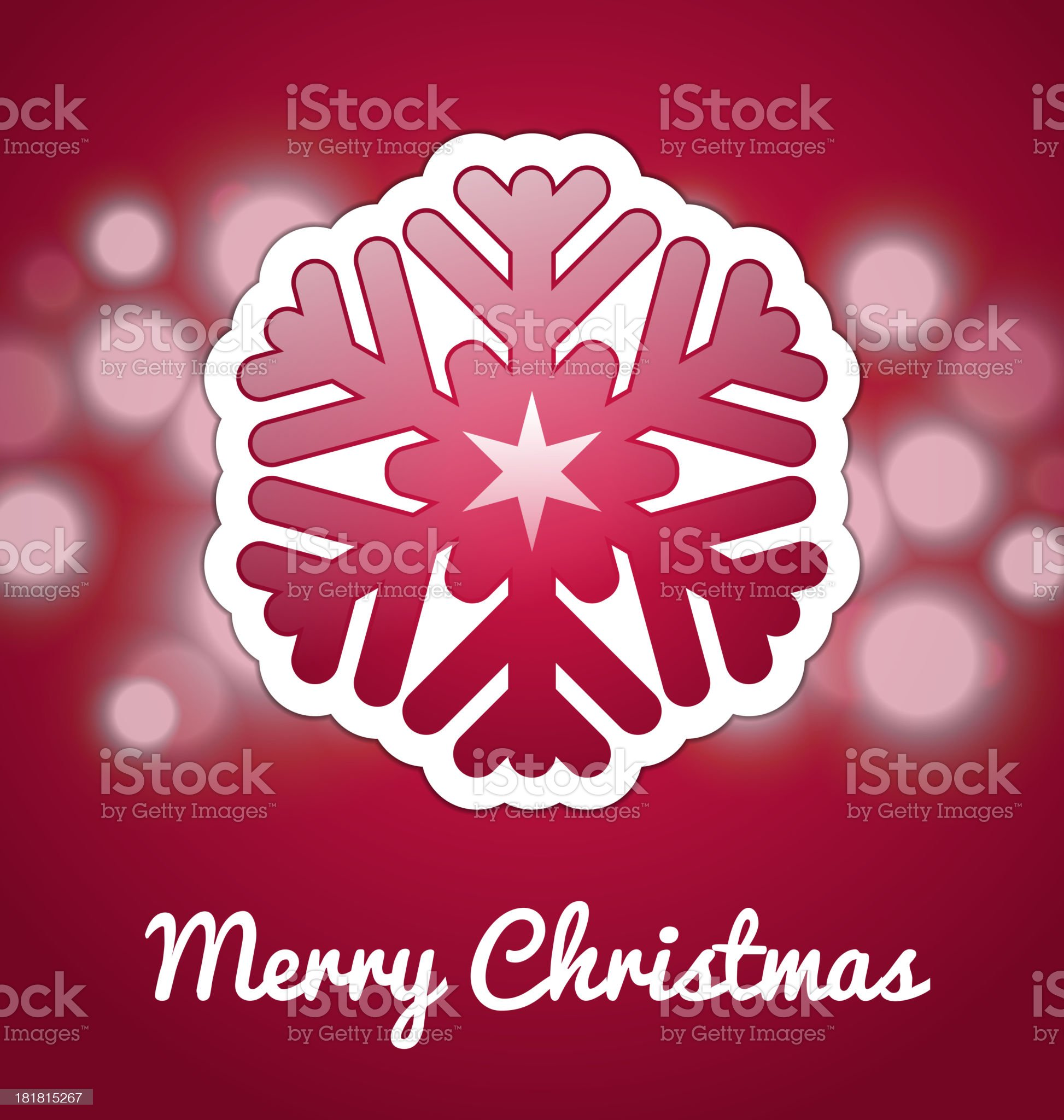 Christmas card with snowflake royalty-free stock vector art