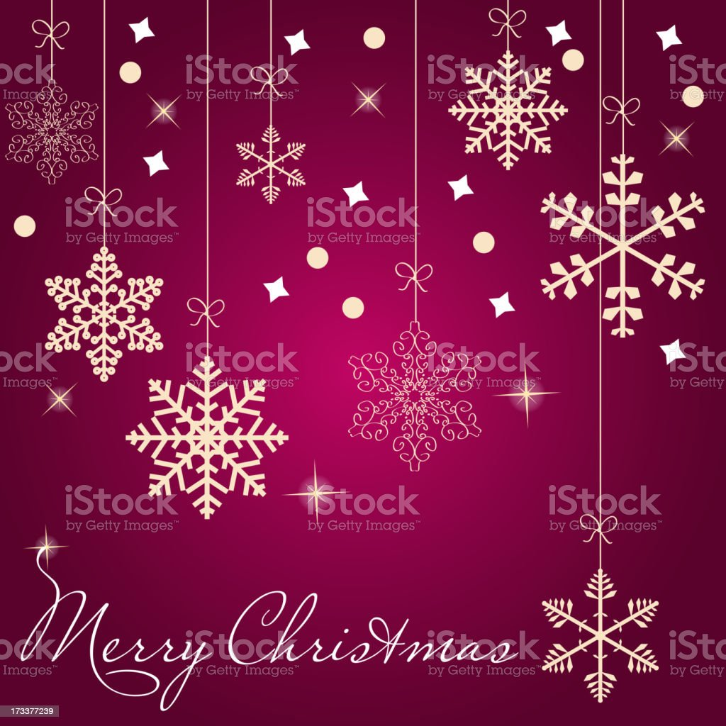 Christmas card with snowflakes vector illustration royalty-free stock vector art