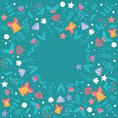 Christmas cards and winter design. Flowers,branches,leaves with snowflake.