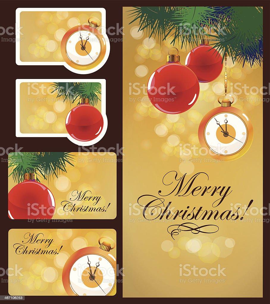 Christmas cards set royalty-free stock vector art