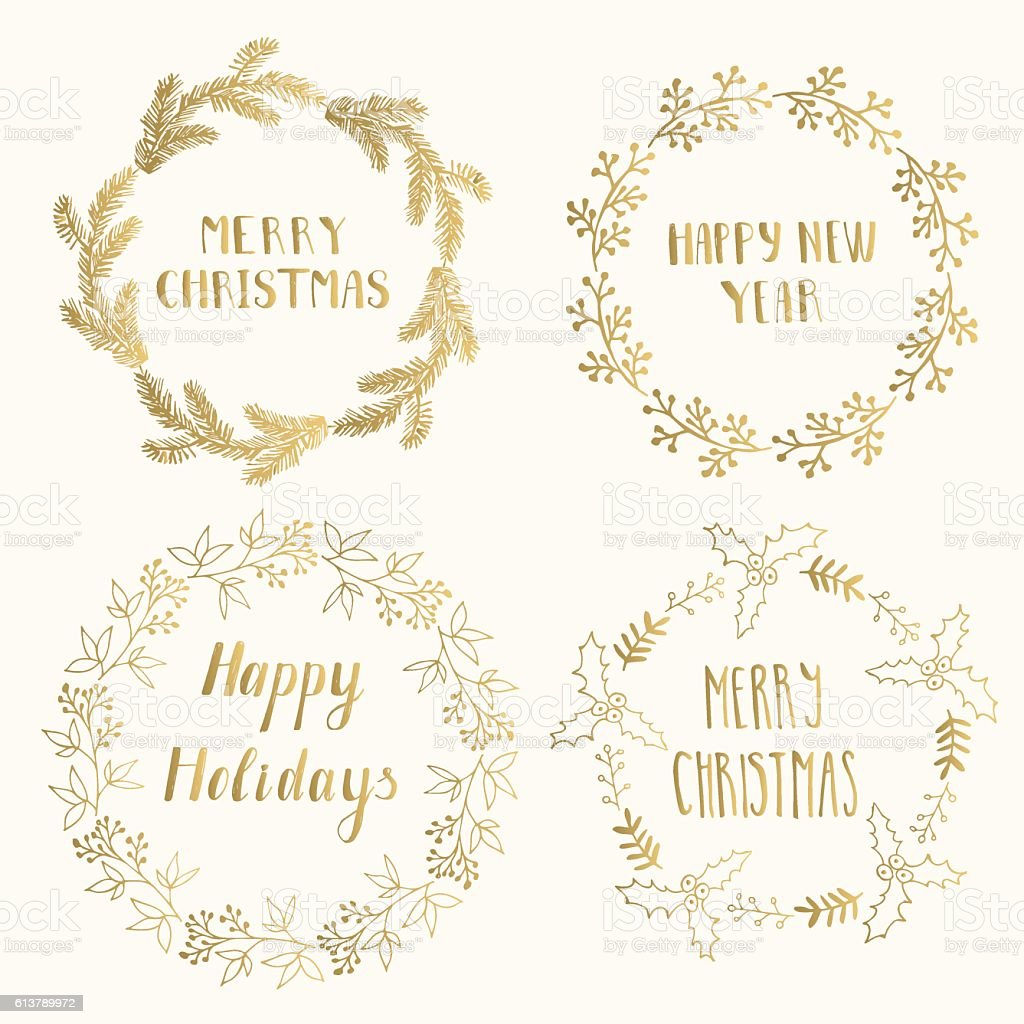 Christmas cards template vector art illustration