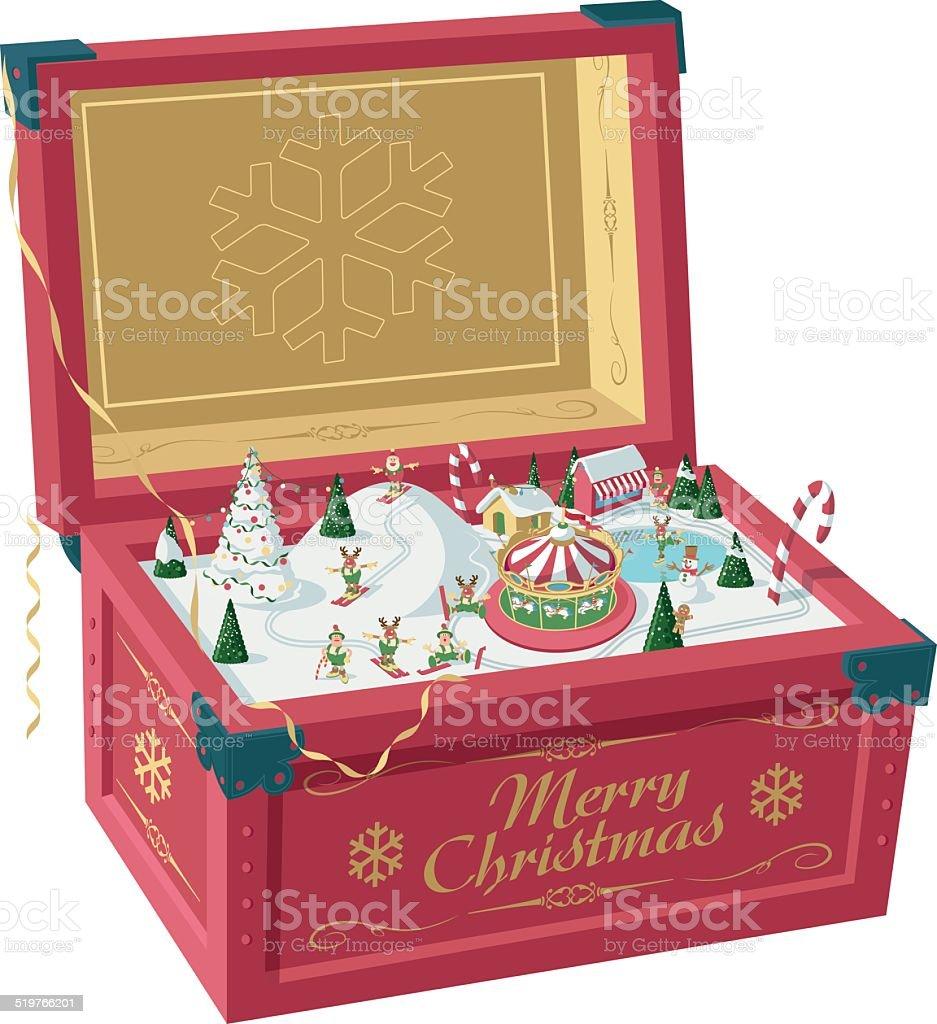 Christmas Carillon vector art illustration