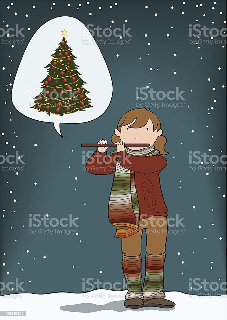 Christmas carol royalty-free stock photo