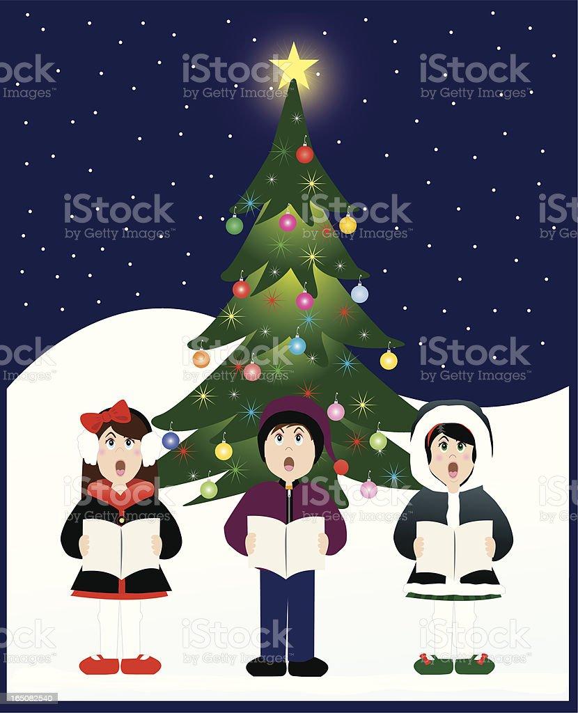 Christmas Carolers royalty-free stock vector art