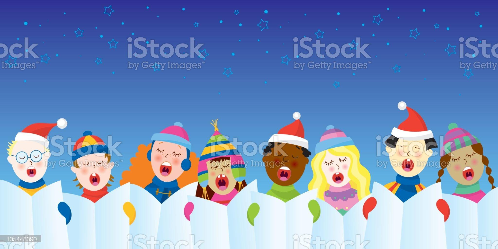 Christmas carols royalty-free stock photo