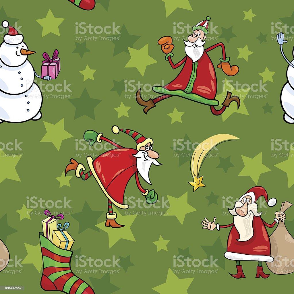 christmas cartoon seamless pattern design royalty-free stock vector art
