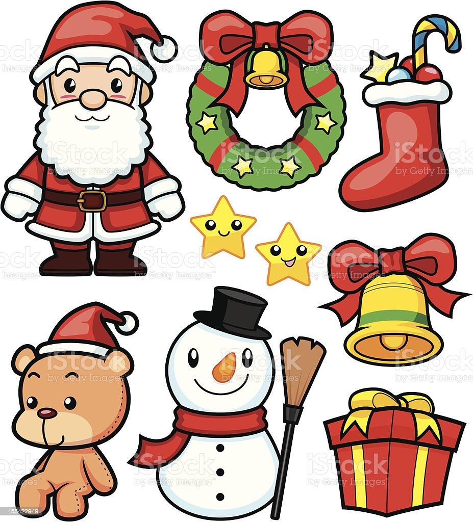 Christmas Cartoon vector art illustration