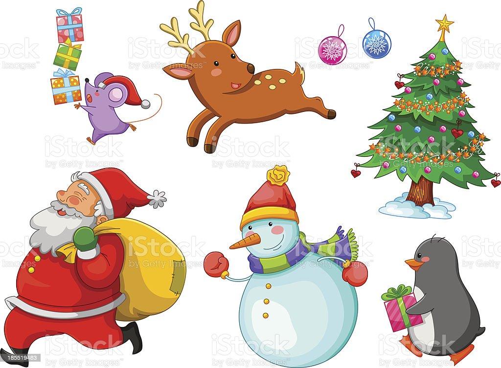christmas cartoons royalty-free stock vector art
