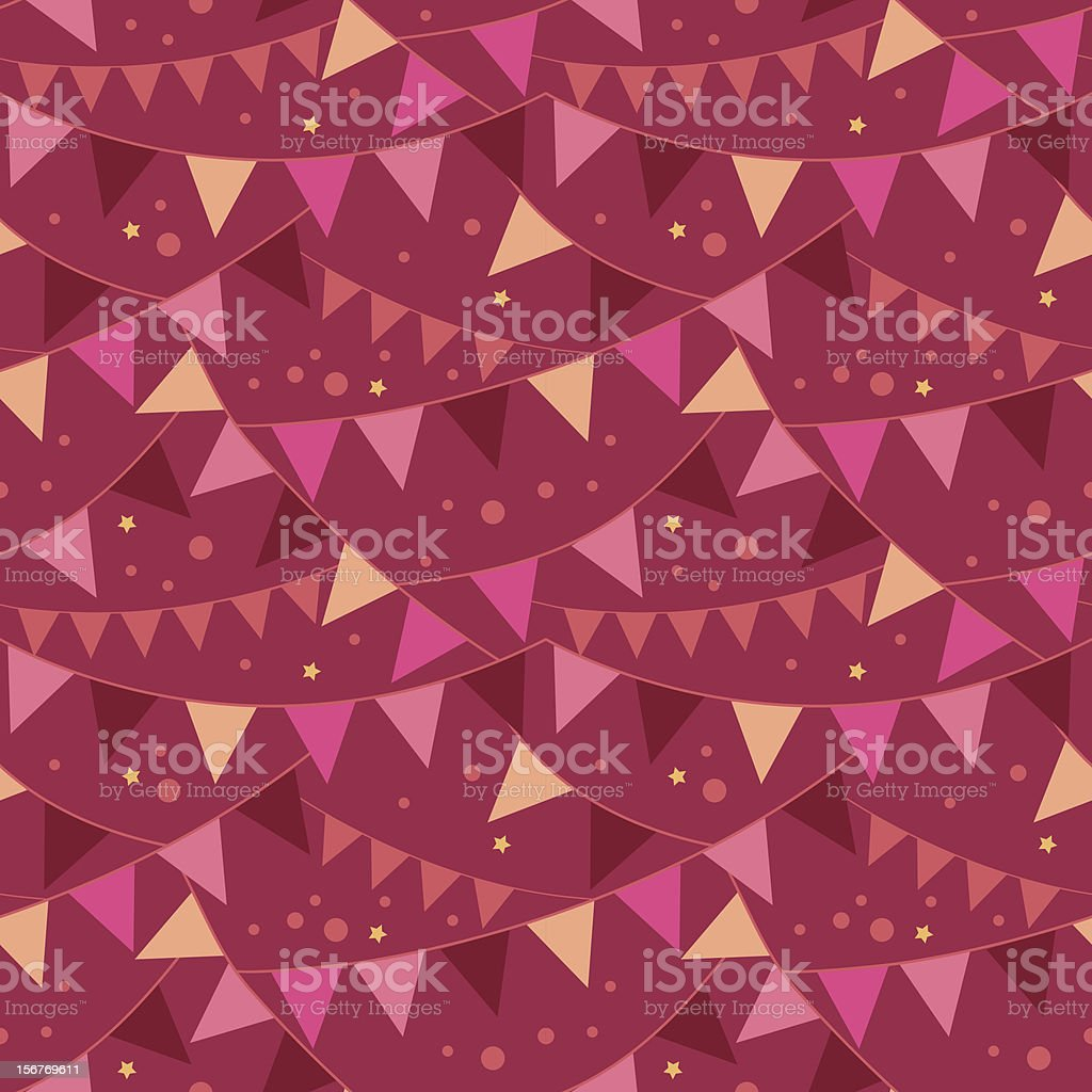 Christmas Celebration Flags Seamless Pattern royalty-free stock vector art