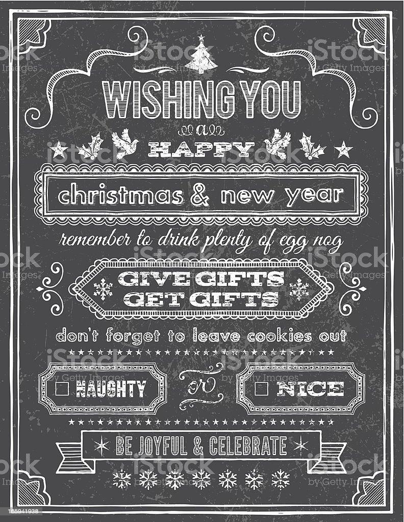 Christmas Chalkboard Lettering royalty-free stock vector art