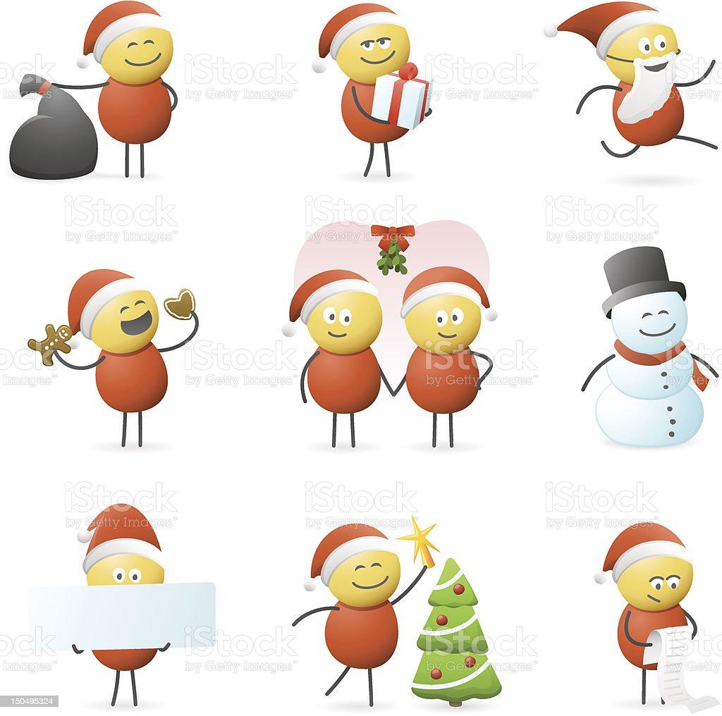 Christmas Characters vector art illustration