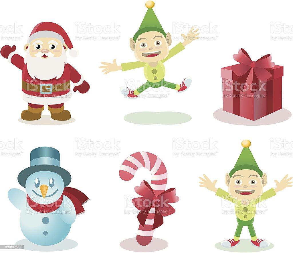 Christmas characters royalty-free stock vector art