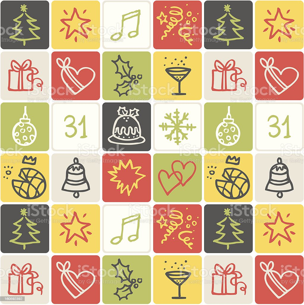 Christmas checked pattern royalty-free stock vector art
